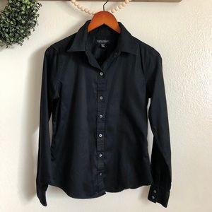 Black Banana Republic collar button up shirt